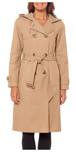 Kate Spade New York double-breast belted trench coat in new french khaki