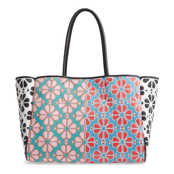 Kate Spade New York large everything spade floral tote in green multi