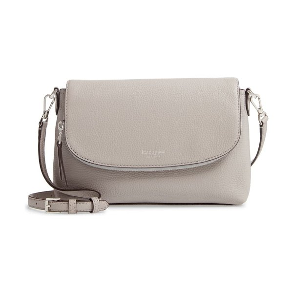Kate Spade New York large polly leather crossbody bag in true taupe