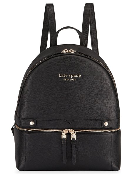 Kate Spade New York medium leather day backpack in black