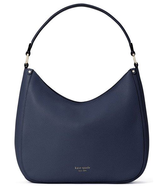 Kate Spade New York roulette large leather hobo bag in blazer blue