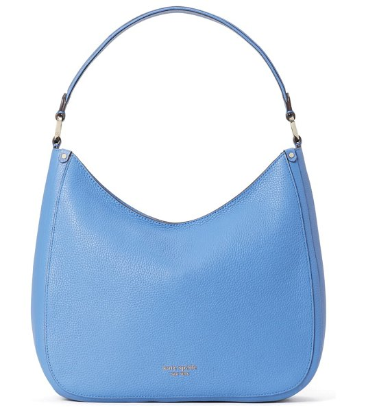Kate Spade New York roulette large leather hobo bag in deep cornflower