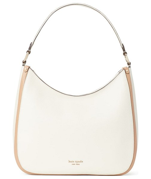 Kate Spade New York roulette large leather hobo bag in parchment multi