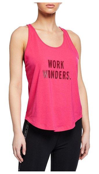 Kate Spade New York wonder racerback graphic tank in pink