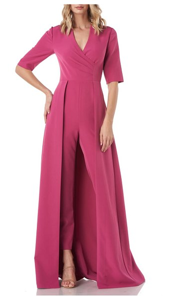 Kay Unger faith maxi romper in berry