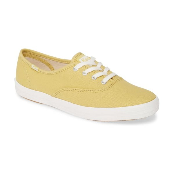 Keds keds champion solid sneaker in chartreuse canvas