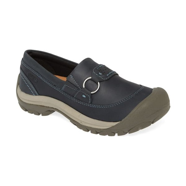 Keen kaci iii loafer in dress blue/ steel grey leather
