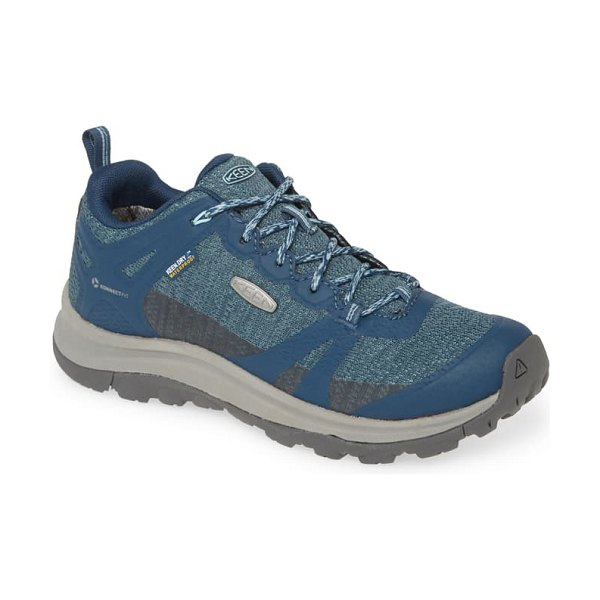 Keen terradora ii waterproof sneaker in tapestry/ blue faux leather