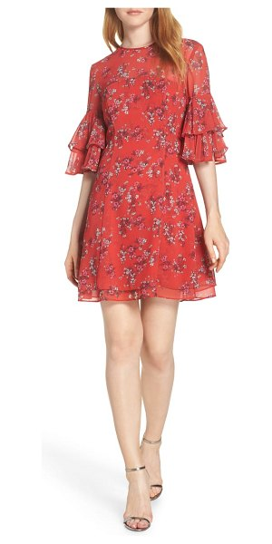 Keepsake heart and soul minidress in small red floral