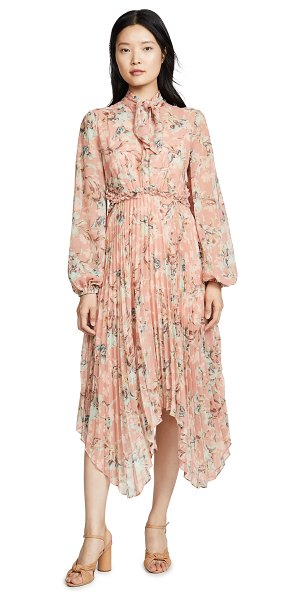 Keepsake unravel long sleeve dress in peony lily