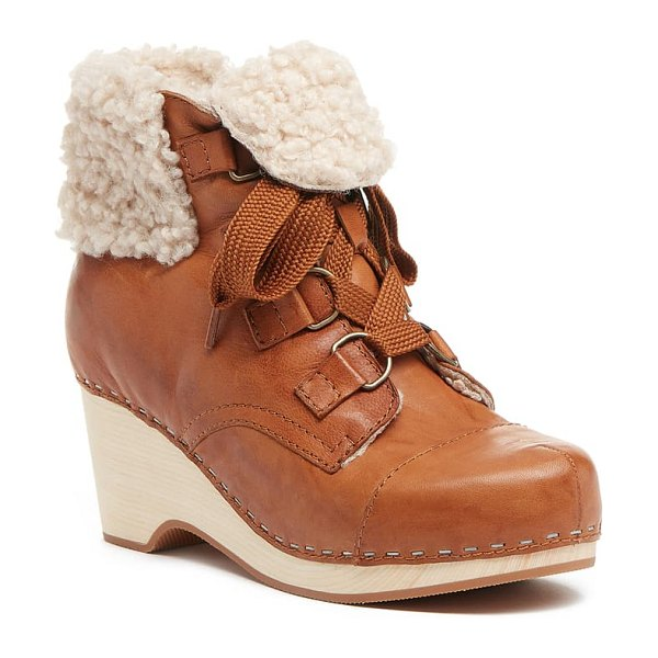 Kelsi Dagger Brooklyn junior lace-up bootie in fox leather