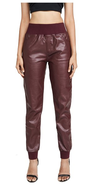 KENDALL + KYLIE cobain vegan leather pants in red currant