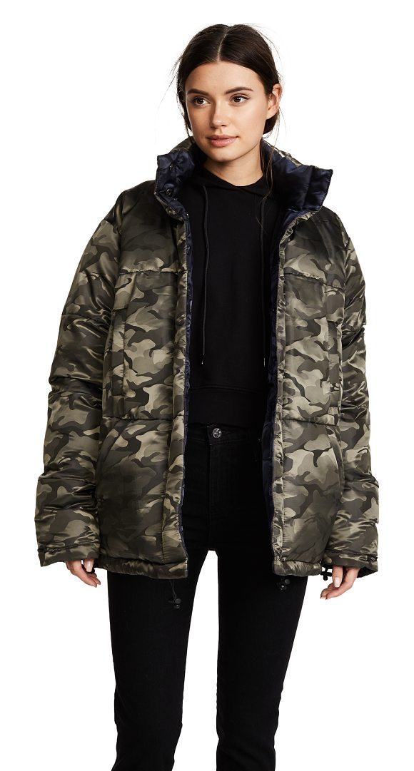 KENDALL + KYLIE reversible puffer coat - A reversible KENDALL + KYLIE puffer jacket with an...