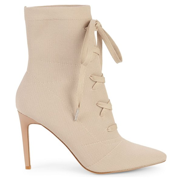 KENDALL + KYLIE Vice Lace-Up Booties in beige