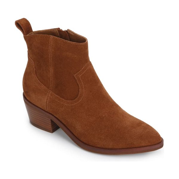 Kenneth Cole arlo western boot in rust suede