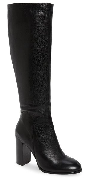 Kenneth Cole justin water resistant knee high boot in black leather