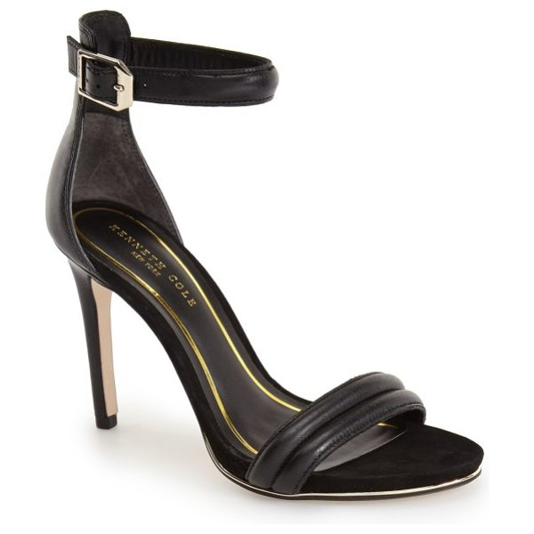 Kenneth Cole 'brooke' ankle strap sandal in black leather