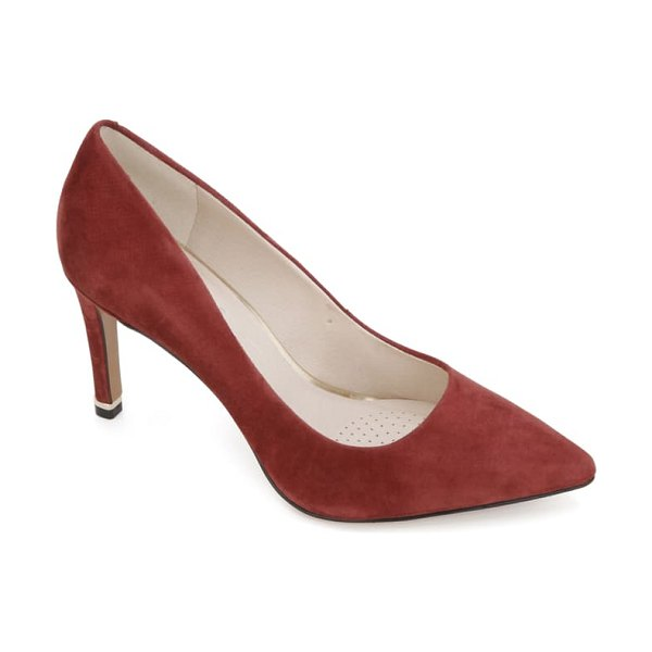 Kenneth Cole riley 85 pump in wine suede