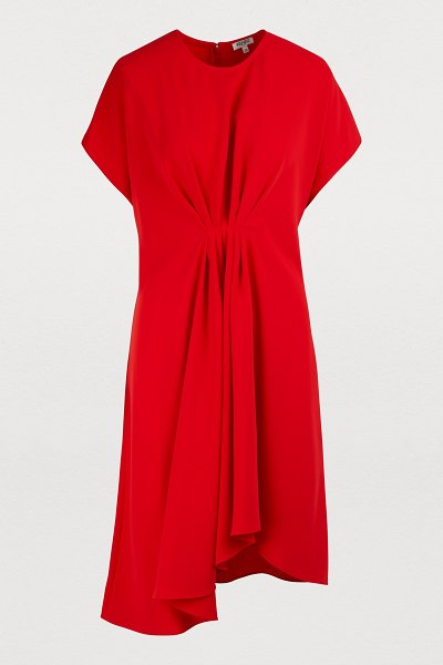 Kenzo Asymmetrical dress in medium red