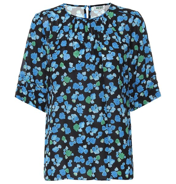 Kenzo floral top in blue