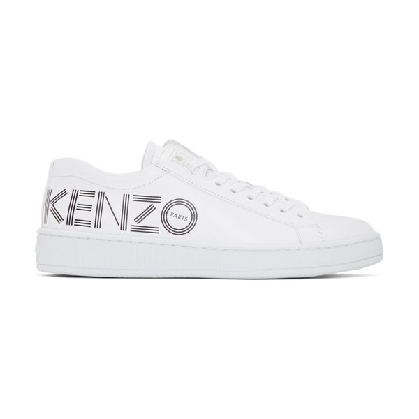 Kenzo white tennix sneakers in 01 white