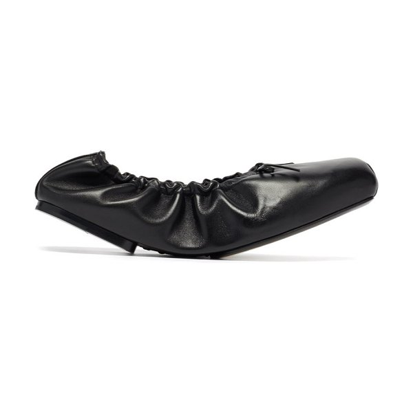 KHAITE ahsland foldable leather flats in black