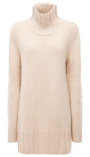 KHAITE Paola cashmere turtleneck sweater in white
