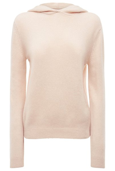 KHAITE Stefka hooded cashmere knit sweater in white