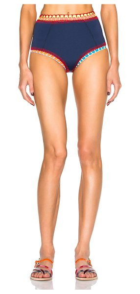 KIINI Tasmin High Waist Bikini Bottom - Self: 75% poly 14% nylon 11% spandex - Contrast Fabric:...