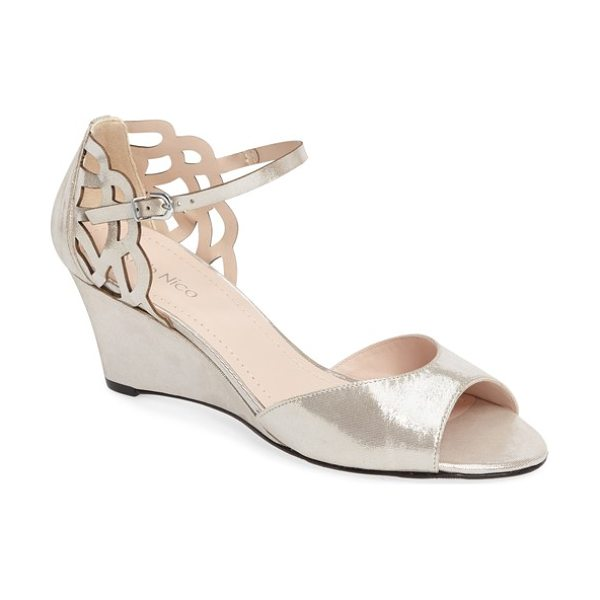 Klub Nico karina cutout sandal in silver leather