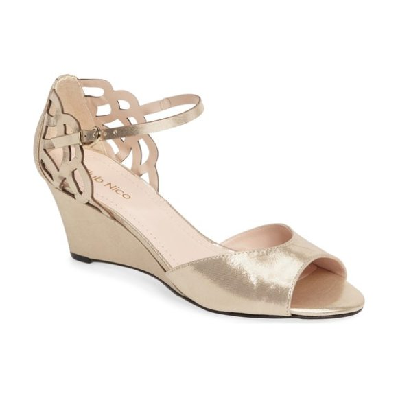 Klub Nico karina cutout sandal in gold leather