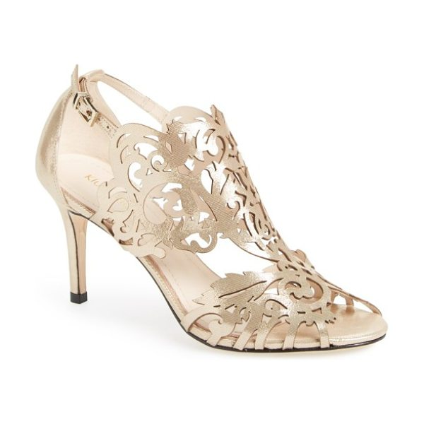 Klub Nico marcela 3 laser cutout sandal in champagne leather