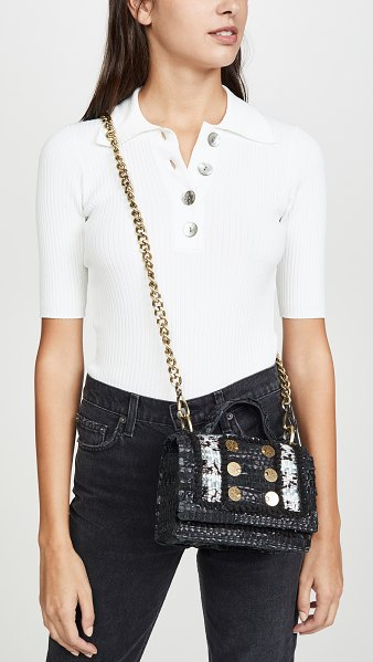 Kooreloo petite manhattan tweed shoulder bag in off white/grey