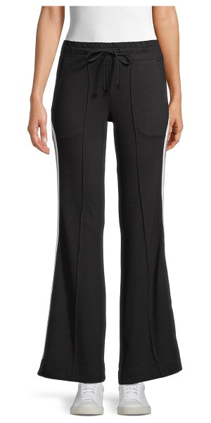 KORAL ACTIVEWEAR Drawstring Flared Pants in black
