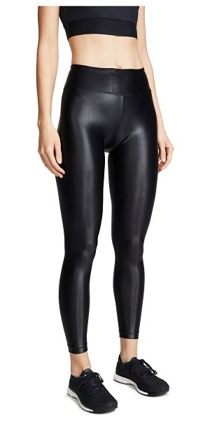 KORAL ACTIVEWEAR shiny metallic active leggings in black