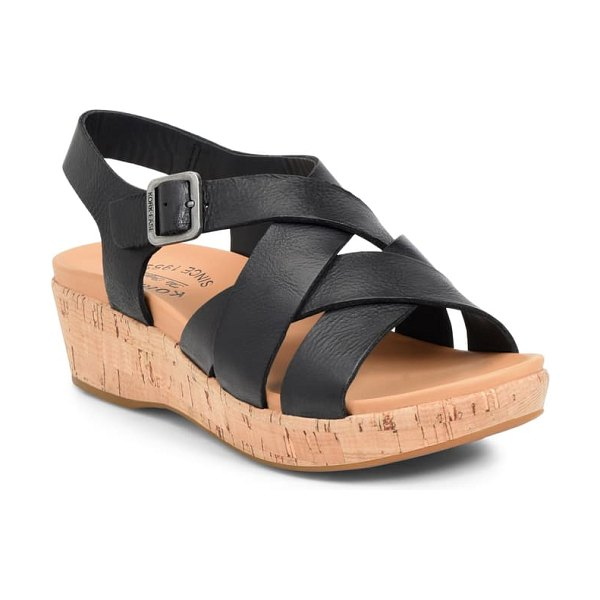Kork-Ease kork-ease caroleigh wedge sandal in black leather
