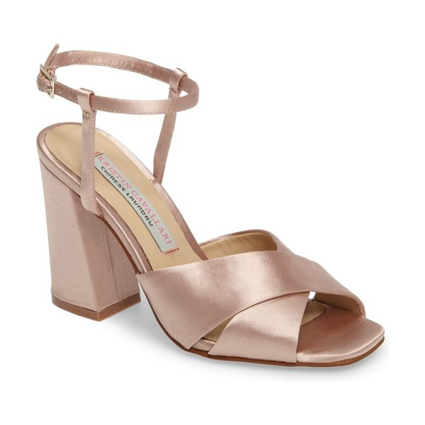 KRISTIN CAVALLARI low light cross strap sandal - A squared toe and a flared block heel add...