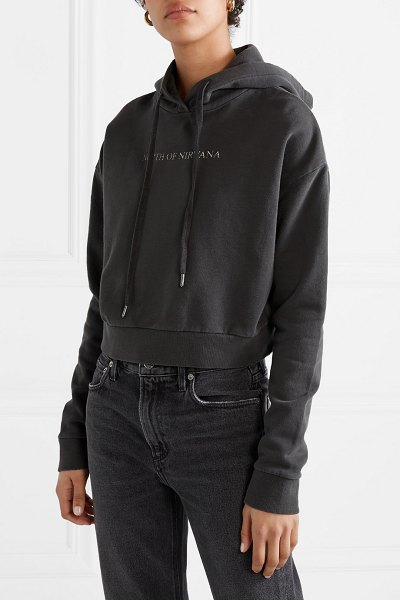 Ksubi north of nirvana cropped printed cotton-jersey hoodie in black - Ksubi entitled its Spring '19 collection 'North Of...