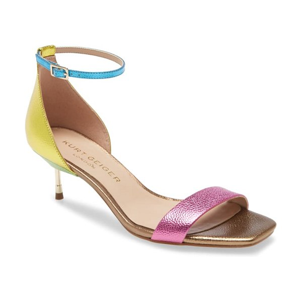 Kurt Geiger London birchin halo strap sandal in rainbow multi