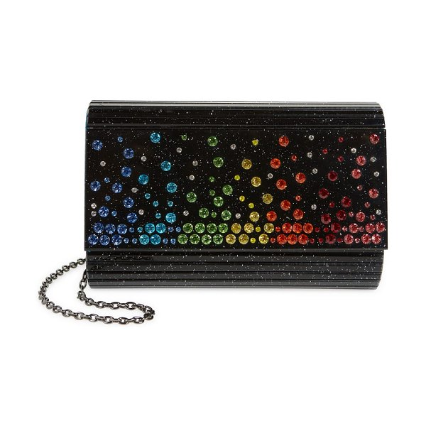Kurt Geiger London crystal embellished party clutch in charcoal