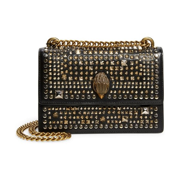 Kurt Geiger London small shoreditch studded leather crossbody bag in black/ other