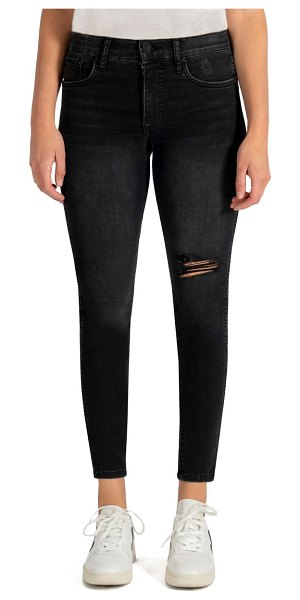 KUT from the Kloth connie fab ab high waist ankle skinny jeans in hundred