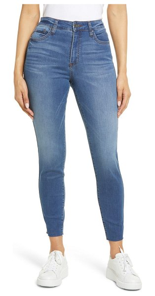 KUT from the Kloth connie fab ab high waist raw hem ankle skinny jeans in doughty