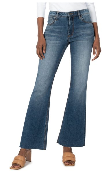 KUT from the Kloth stella fray hem flare jeans in paradise