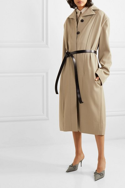 Kwaidan Editions wool-twill coat in beige