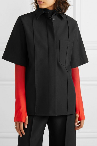 Kwaidan Editions bonded wool and cotton-blend shirt in black