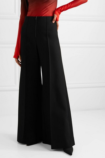 Kwaidan Editions bonded wool and cotton-blend wide-leg pants in black