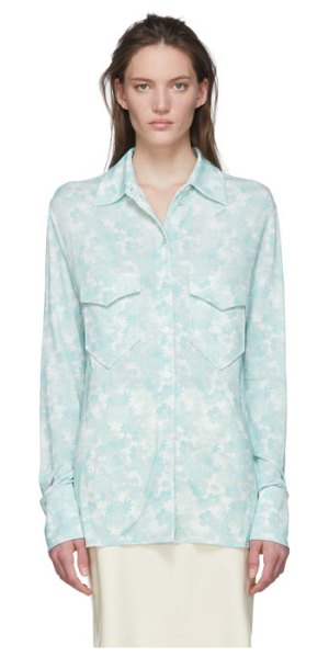 Kwaidan Editions multicolor slim button shirt in floral prin