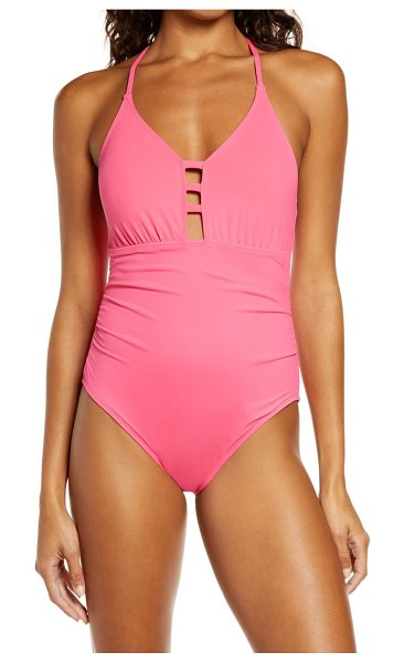 La Blanca laddered mio one-piece swimsuit in ginger