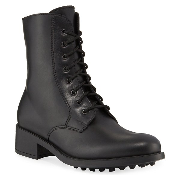La Canadienne Sonnet Weatherproof Combat Boots in black